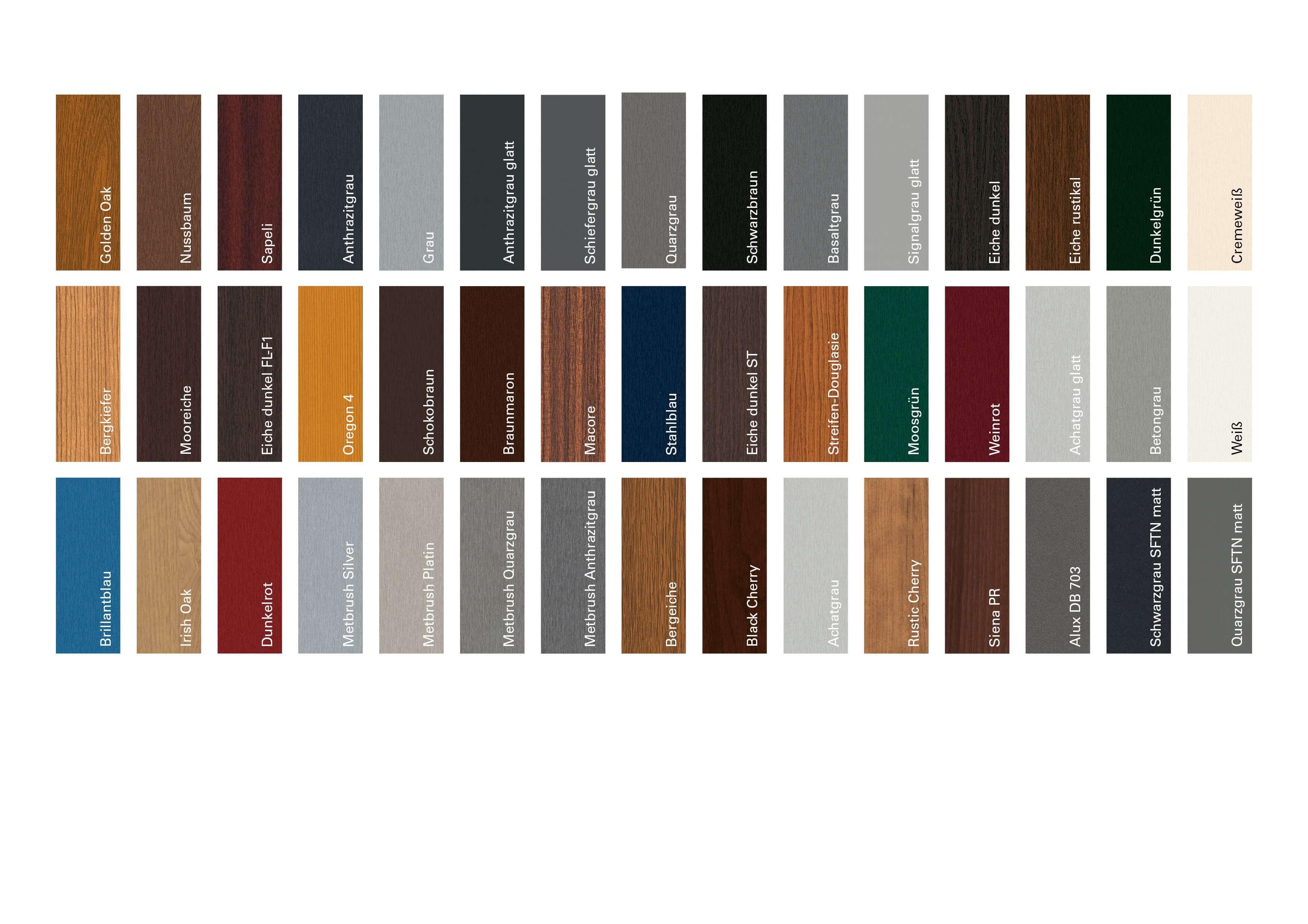 Berühmt Fensterrahmen Farben - Reich Fenstervisionen LY37
