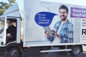 Frühlingsfrische Reich LKWs, so macht die Fahrt zum Kunden noch mehr Freude!